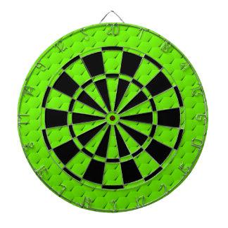 Green hexagon dartboard