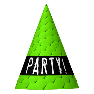 Green hexagon party hat