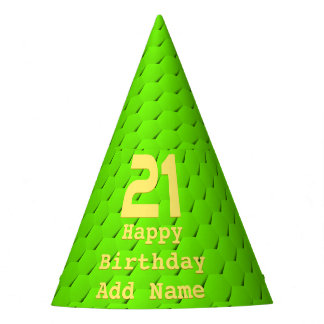 Green hexagon party hat