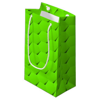Green hexagon small gift bag