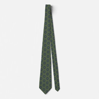Green hexagons tie