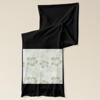 Green Hibiscus scarf