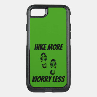 Green Hike More Worry Less Otter Box Phone Case