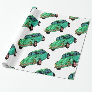 Green hippie Car Mandala Wrapping Paper