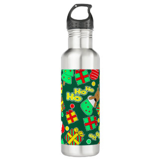 Green - Ho Ho Santa 710 Ml Water Bottle