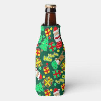Green - Ho Ho Santa Bottle Cooler