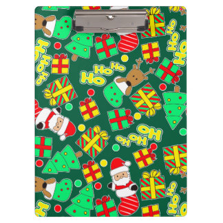 Green - Ho Ho Santa Clipboard
