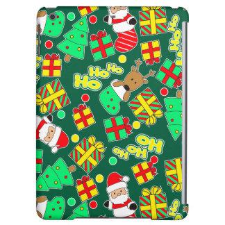 Green - Ho Ho Santa iPad Air Covers
