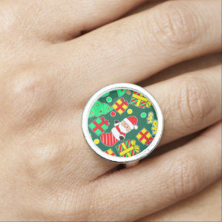 Green - Ho Ho Santa Photo Ring