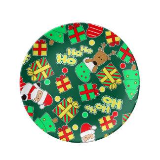 Green - Ho Ho Santa Plate