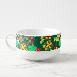 Green - Ho Ho Santa Soup Mug