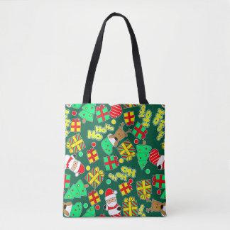 Green - Ho Ho Santa Tote Bag