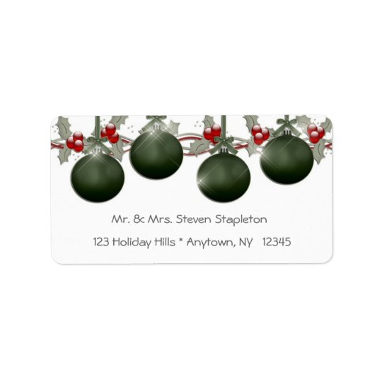 Green Holly Ornaments