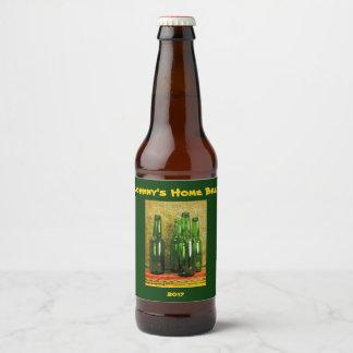 Green Home Brew Bottles Beer Label