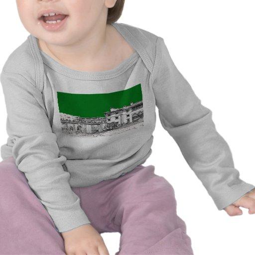 green home drawing t-shirts