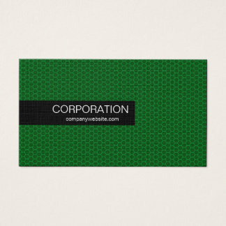 Green honeycomb bold standard size business cards