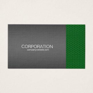 Green honeycomb elite business card