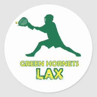 Green Hornets Goalie Catch Classic Round Sticker