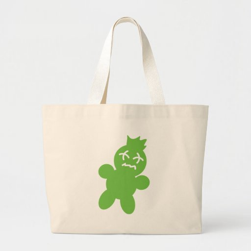 green horror doll icon tote bag