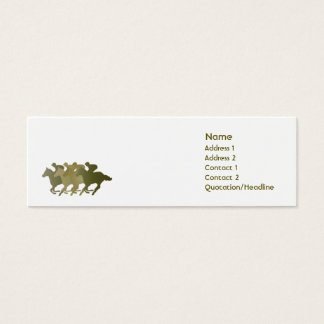 Green Horse - Skinny Mini Business Card