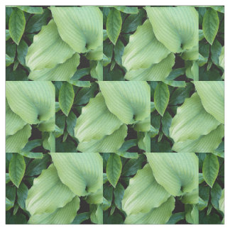 Green Hosta Leaves Floral Fabric