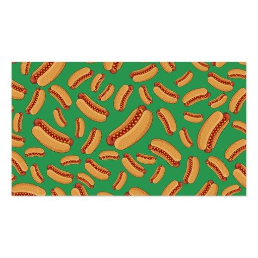 Green hotdogs business card templates