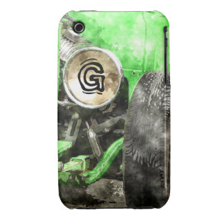 Green Hotrod Vintage Classic Car Painted Style iPhone 3 Covers