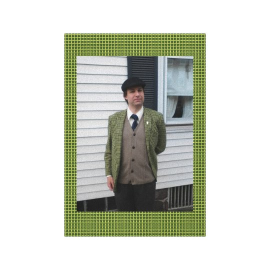 Green Houndstooth Canvas Print