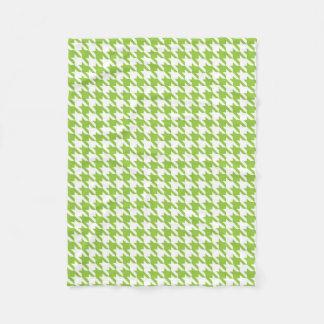 Green Houndstooth Fleece Blanket