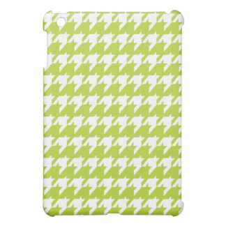 Green houndstooth  iPad mini case