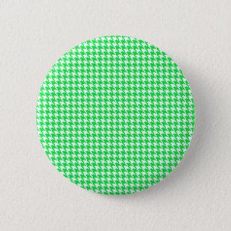 Green Houndstooth Pattern 2 Inch Round Button