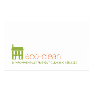 Green House Logo Natural Cleaning Services Double-Sided Standard Business Cards (Pack Of 100)