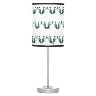 Green Hummingbirds Pattern Table Lamp