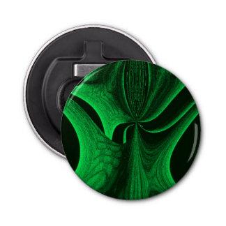 Green Hunter Fractal Button Bottle Opener
