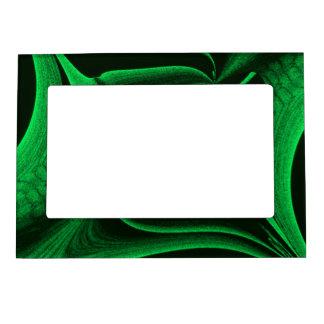 Green Hunter Fractal Magnetic Picture Frame