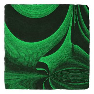Green Hunter Fractal Trivet