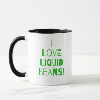 Green I Love Coffee Mug