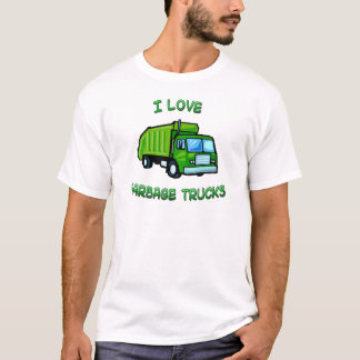 green I love garbage trucks T-Shirt