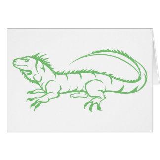 Green Iguana Card