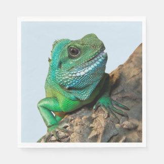 Green iguana disposable napkin