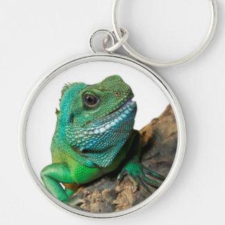 Green iguana keychain