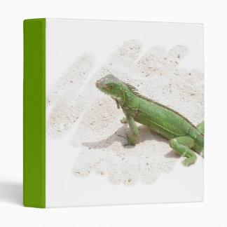 Green Iguana Lizard Binder