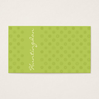 Green in Green w/ Yellow Circles Loyalty Business Card