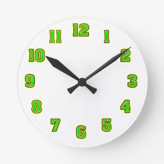 Green in Yellow Clock Template