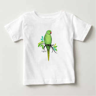 Green Indian Ringneck Parrot Baby T-Shirt