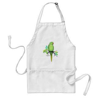 Green Indian Ringneck Parrot Standard Apron