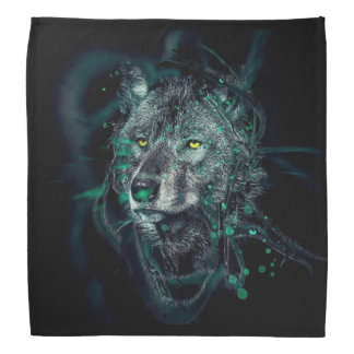 Green indian wolf bandana