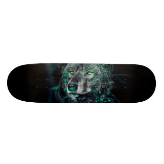 Green indian wolf skate board