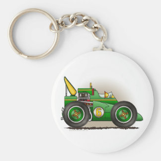 Green Indy Race Car Key Chains
