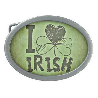Green Irish Belt Buckle